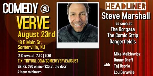 Comedy at Verve on August 23rd