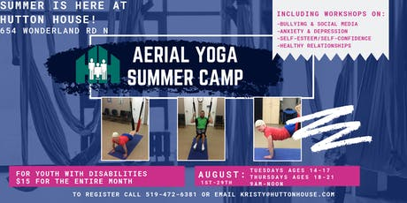 Aerial Yoga Summer Camp for Youth with Disabilities tickets