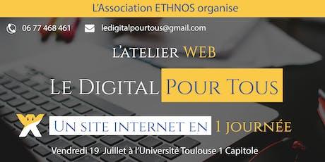 Workshop Digital / Créez un site internet en 1 journée billets