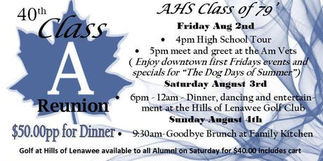 AHS Class of 79' 40th Reunion tickets