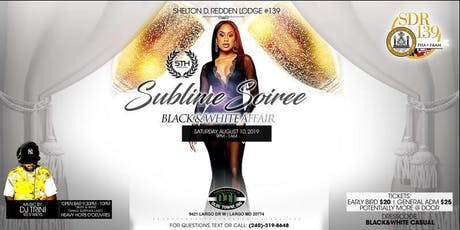 "The 5th Annual ""Sublime Soiree Black & White Affair"" (2019) tickets"