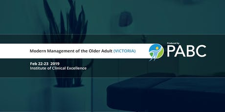 PABC/UBC CPD Course: Modern Management of the Older Adult (VICTORIA) tickets