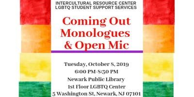 Coming Out Monologues and Open Mic