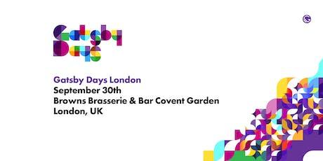 Gatsby Days London 2019 tickets