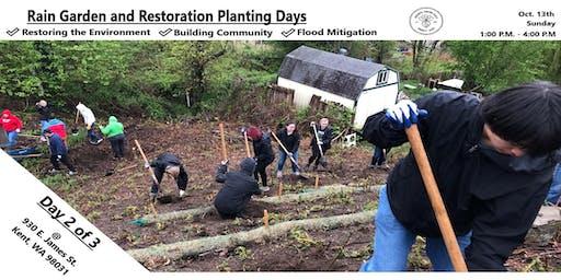 Rain Garden and Restoration Planting Days: Day 2