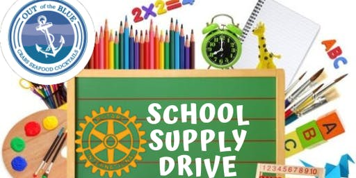 Rotary Club Guest Bartending Night + School Supply Drive at Out of the Blue