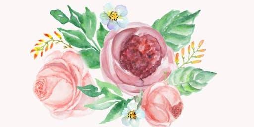 Watercolour Workshop: Flower Motief - Toronto, Danforth