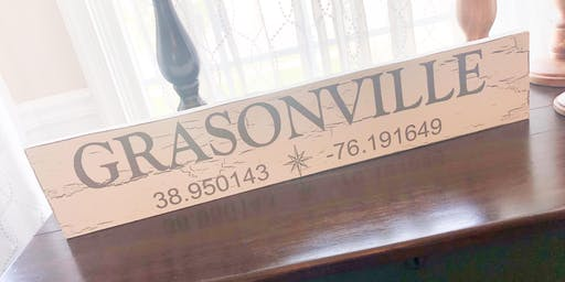 Hometown Coordinates Sign Workshop