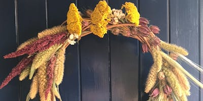 Autumnal Style Willow Door Wreath