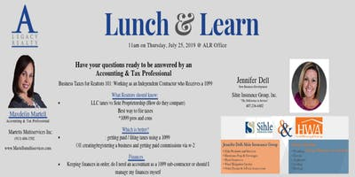 Lunch & Learn: Business Taxes for Realtors 101