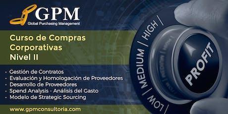 Curso Intensivo de Compras Corporativas - Nivel II (Sede: Santiago) boletos
