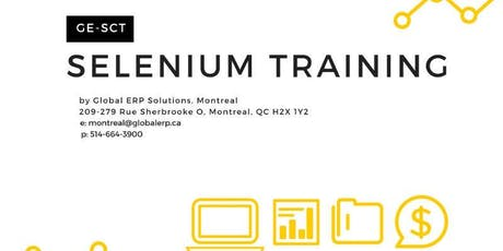 Selenium using Java Training /Bootcamp - Montreal  tickets