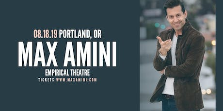 Max Amini Live in Portland - Authentically Absurd Tour tickets