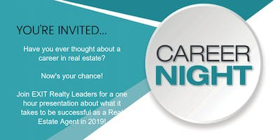 Career Night - Learn what it takes to be a Real Estate Agent in 2019!