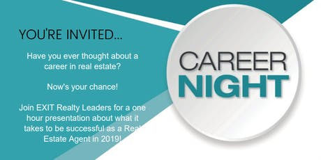 Career Night - Learn what it takes to be a Real Estate Agent in 2019! tickets
