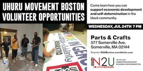 Uhuru Movement Boston Volunteer Opportunities tickets
