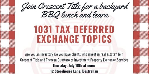 1031 Exchange Lunch and Learn