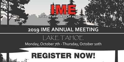IME 2019 Annual Meeting, Lake Tahoe, NV