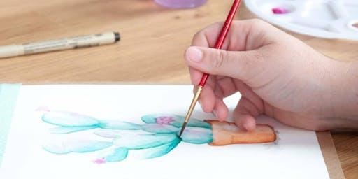 Summer Watercolor Workshop with Maya Modi