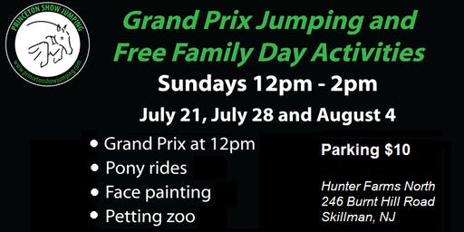 Grand Prix Jumping & FREE Family Day Activities @ Princeton Show Jumping!