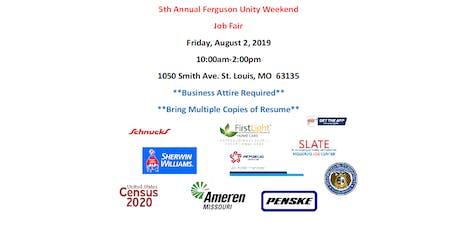 5th Annual Ferguson Unity Weekend Job Fair tickets