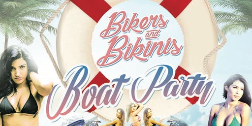SINNERZ OF ATTENTION AND RED ROOSTER  PRESENT BIKERS AND BIKINIS BOAT PARTY