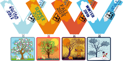 2019 Four Seasons, Four Miles - Spring, Summer, Autumn and Winter - Harrisburg