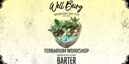 Love Vessel Succulent Terrarium Workshop