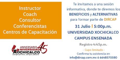 Sesión Informativa DIRCAP-Instructores y Capacitación en Ensenada tickets