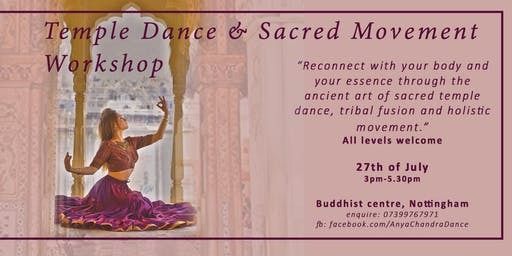 Sacred Movement and Tribal Dance Workshop