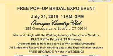 FREE POP-UP BRIDAL EXPO EVENT