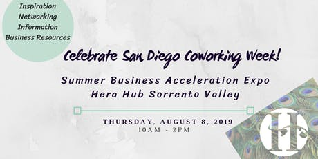 Summer Business Acceleration Expo at Hera Hub Sorrento Valley tickets