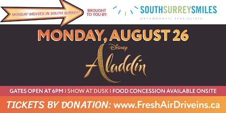 ALADDIN - South Surrey Smiles Drive-In - (Charity) tickets