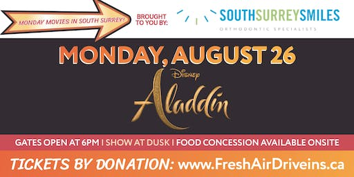 ALADDIN - South Surrey Smiles Drive-In - (Charity)