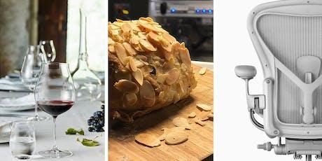 Wine. Bread. Design. Degustação de vinhos e  pães. ingressos