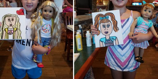 American Girl Doll Paint Event Taunton