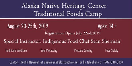 Traditional Foods Camp tickets