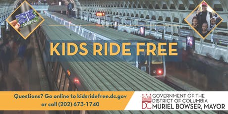 Kids Ride Free (SY18-19) Replacement Card Pickup-Deanwood tickets