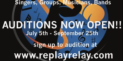 OPEN CALL FOR AUDITIONS - REPLAYRELAY 2019 CARIBBEAN MUSIC TALENT COMPETITION