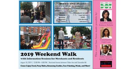 2019 Weekend Walk tickets