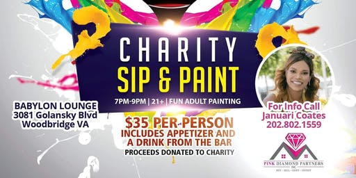 Sip and Paint for Charity