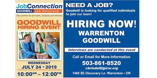 Goodwill is Hiring - Warrenton - 7/24/19