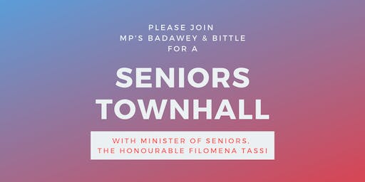 Seniors Townhall with Minister Tassi