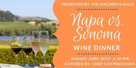 Napa vs. Sonoma Wine Dinner tickets