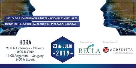 Webinario  RECLA - Retos de la Academica Frente al Mercado Laboral entradas