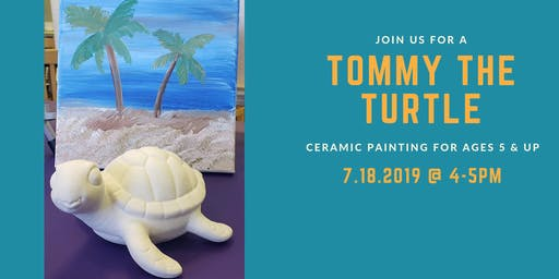 Tommy the Turtle (Ceramic Painting Class for Children)