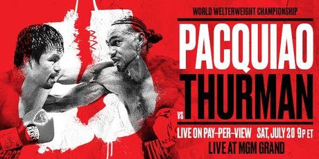 Pacquiao & Thurman Viewing Party at Frank's tickets