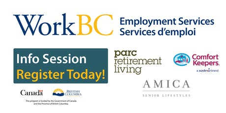 WorkBC South Surrey-White Rock Info Session - Healthcare tickets