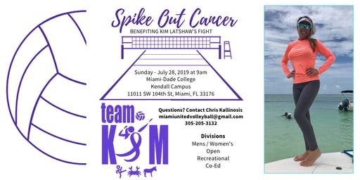 Kim Spikes Cancer Volleyball Tournament