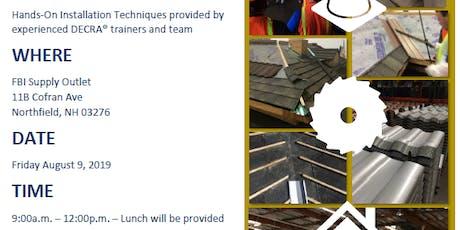 DECRA Installation Training - Northfield, NH tickets